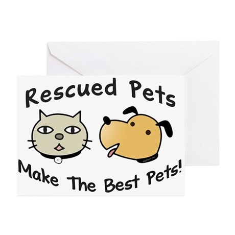 Rescued Pets - The Best Pets Greeting Cards (Packa