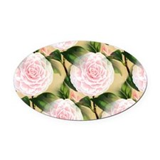 Pink Camilla collage Oval Car Magnet