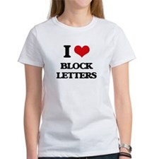 I Love Block Letters T-Shirt