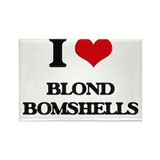 I Love Blond Bomshells Magnets