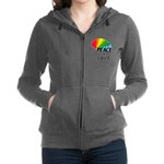 Rainbow Peace Love Women's Zip Hoodie