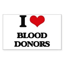 I Love Blood Donors Decal