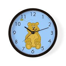 Bumble Bee and Baby Bear Cub Wall Clock