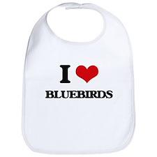 I Love Bluebirds Bib