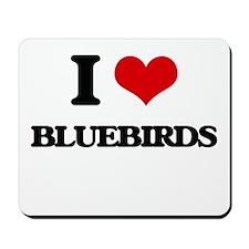 I Love Bluebirds Mousepad