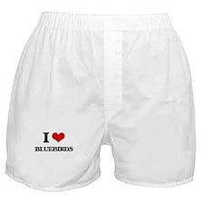 I Love Bluebirds Boxer Shorts