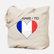 Custom France Flag Heart Tote Bag