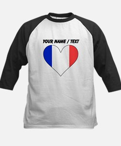 Custom France Flag Heart Baseball Jersey