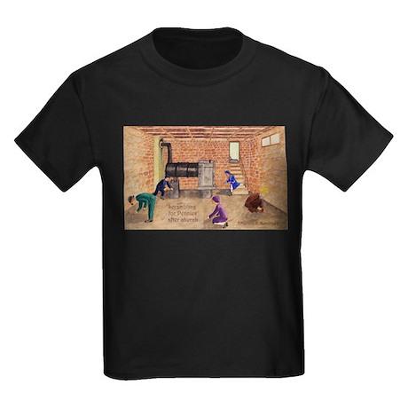 Izzie's Scrambling for Pennies Kids Dark T-Shirt
