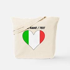 Custom Italy Flag Heart Tote Bag