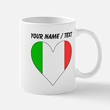 Custom Italy Flag Heart Mugs