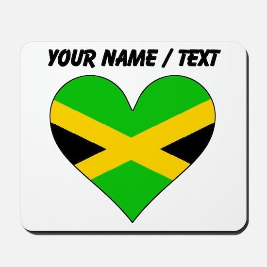 Custom Jamaica Flag Heart Mousepad