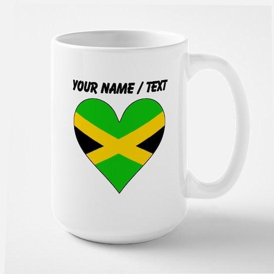 Custom Jamaica Flag Heart Mugs