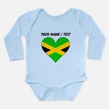 Custom Jamaica Flag Heart Body Suit