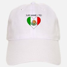 Custom Mexico Flag Heart Baseball Cap
