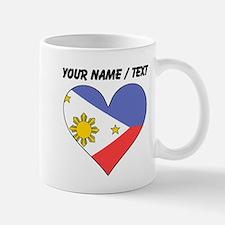 Custom Philippines Flag Heart Mugs