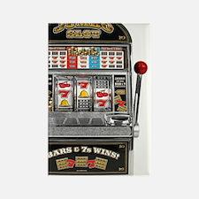Casino Slot Machine Rectangle Magnet