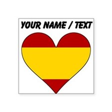 Custom Spain Flag Heart Sticker