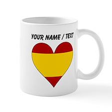 Custom Spain Flag Heart Mugs