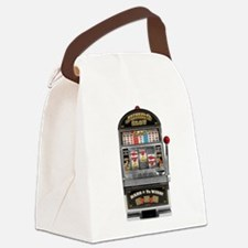 Casino Slot Machine Canvas Lunch Bag