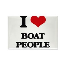 I Love Boat People Magnets