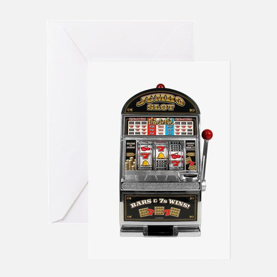 Casino Slot Machine Greeting Cards