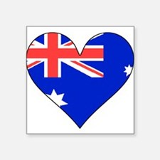 Chile Flag Heart Sticker