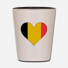 Belgium Flag Heart Shot Glass