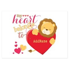 My Heart Belongs to Personalized 5x7 Flat Cards