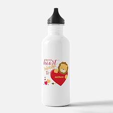 My Heart Belongs to Pe Water Bottle