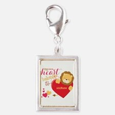 My Heart Belongs to Personal Silver Portrait Charm