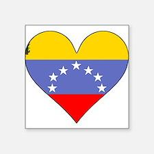 Venezuela Flag Heart Sticker