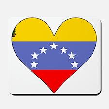 Venezuela Flag Heart Mousepad