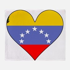 Venezuela Flag Heart Throw Blanket