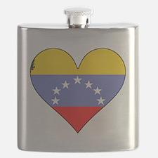 Venezuela Flag Heart Flask