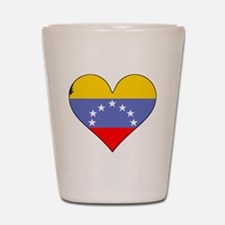 Venezuela Flag Heart Shot Glass