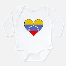 Venezuela Flag Heart Body Suit
