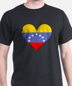 Venezuela Flag Heart T-Shirt