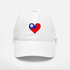 Taiwan Flag Heart Baseball Baseball Baseball Cap