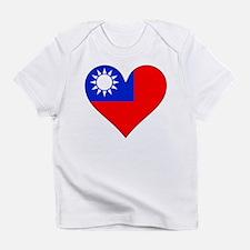 Taiwan Flag Heart Infant T-Shirt