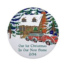 2014 Our 1st Christmas New Home Ornament (round)