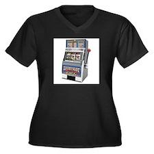 Casino Slot Machine Plus Size T-Shirt