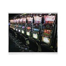 Casino Slot Machine Throw Blanket