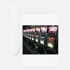 Casino Slot Machine Greeting Cards