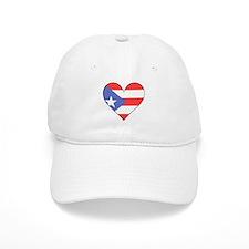 Puerto Rico Flag Heart Baseball Baseball Cap