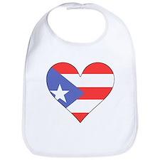 Puerto Rico Flag Heart Bib