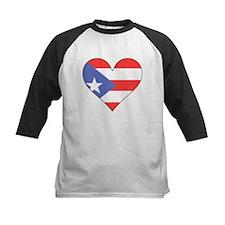 Puerto Rico Flag Heart Baseball Jersey