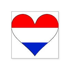Netherlands Flag Heart Sticker