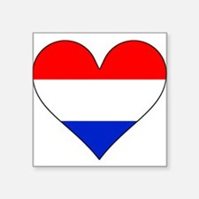 Netherlands Flag Heart Sticker