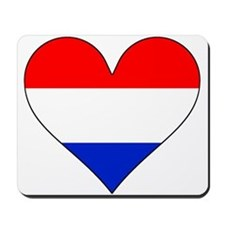 Netherlands Flag Heart Mousepad